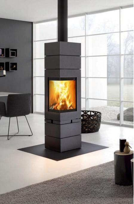 element r f chauffage po les bois contemporain espace po le scandinave. Black Bedroom Furniture Sets. Home Design Ideas