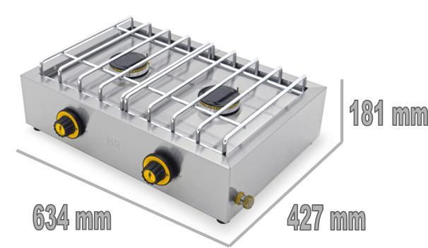 3cfb814ec4c5a3 Réchaud gaz - FAINCA 2 feux - Réf. - CUISINE PROFESSIONNELLE POUR ...