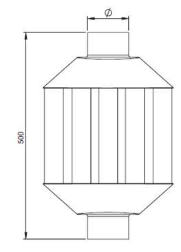 diffuseur de chaleur r f conduits de fum e tuyaux simple paroi maill s ep 0 7mm espace. Black Bedroom Furniture Sets. Home Design Ideas