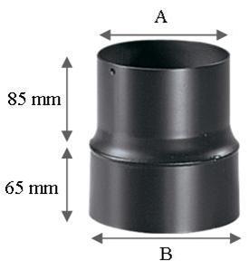 R duction simple paroi r f conduits de fum e tuyau - Reducteur cheminee 200 150 ...