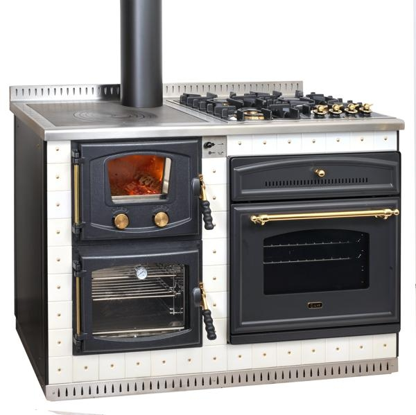 Elektra r f chauffage cuisini res bois espace for Cuisiniere design