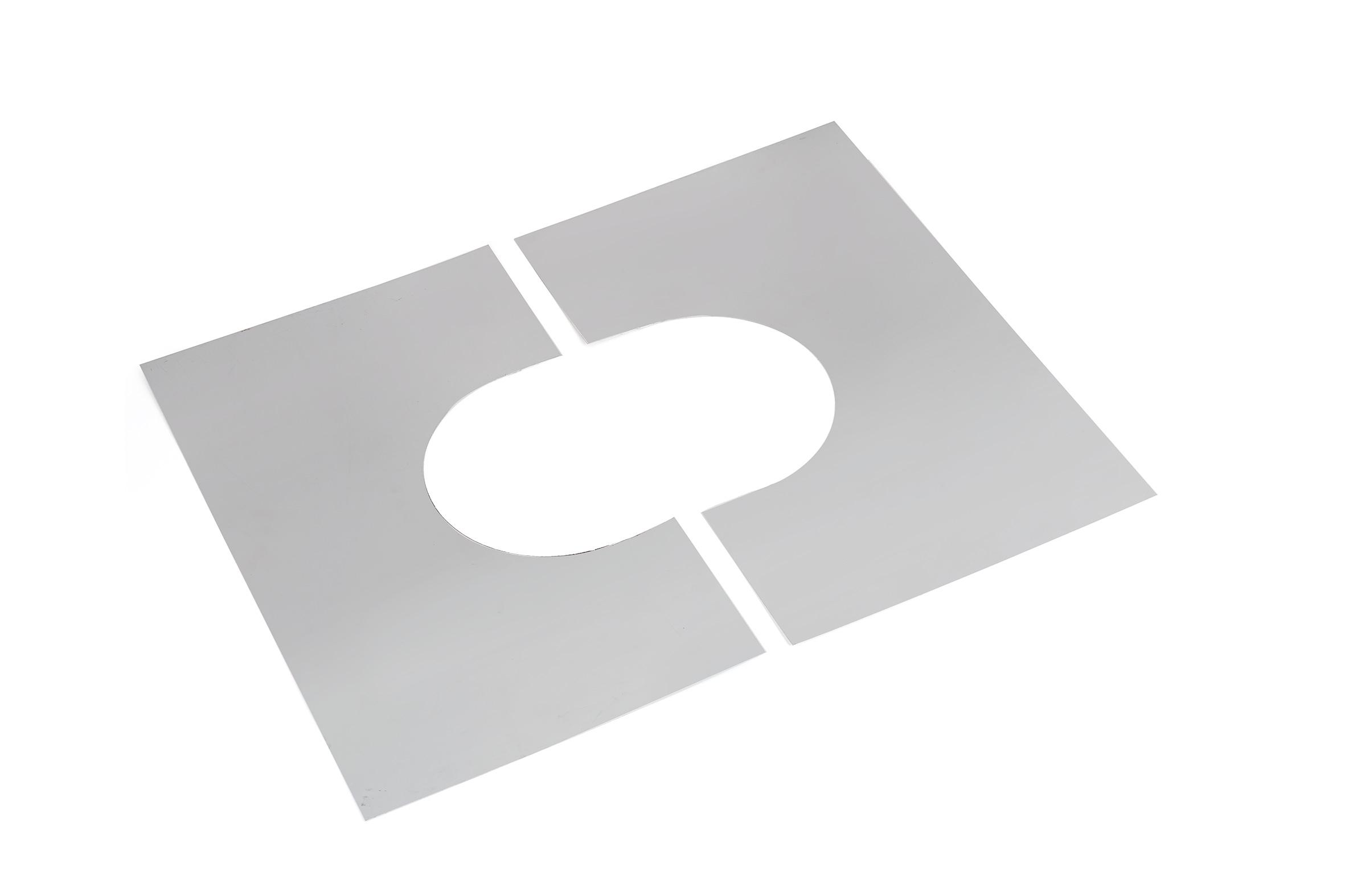 plaque de propret inox r f conduits de fum e. Black Bedroom Furniture Sets. Home Design Ideas