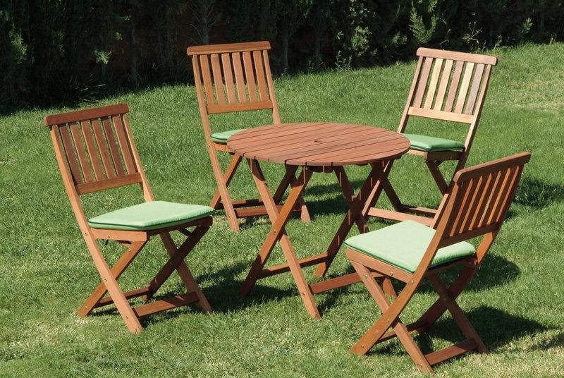 Beautiful salon de jardin en bois keruing contemporary - Peindre un salon de jardin en bois exotique ...