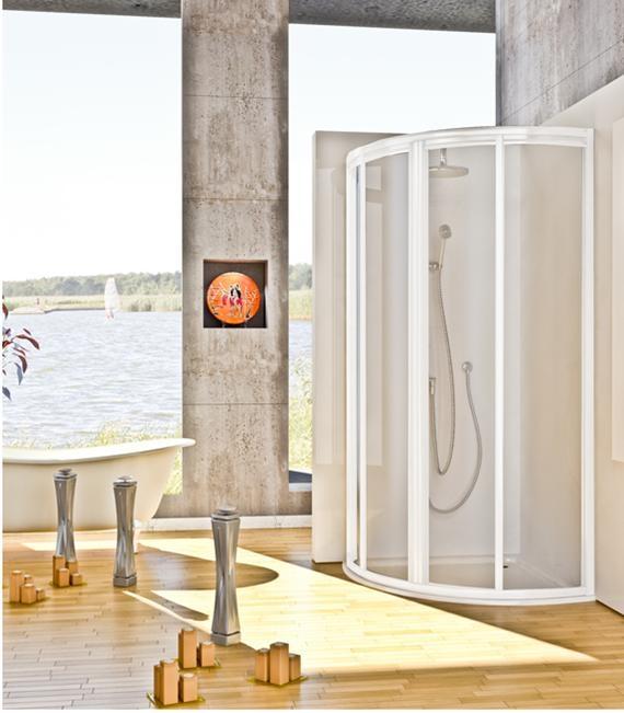 paroi de douche 1 4 de cercle r f salle de bain plomberie cabine de douche espace. Black Bedroom Furniture Sets. Home Design Ideas
