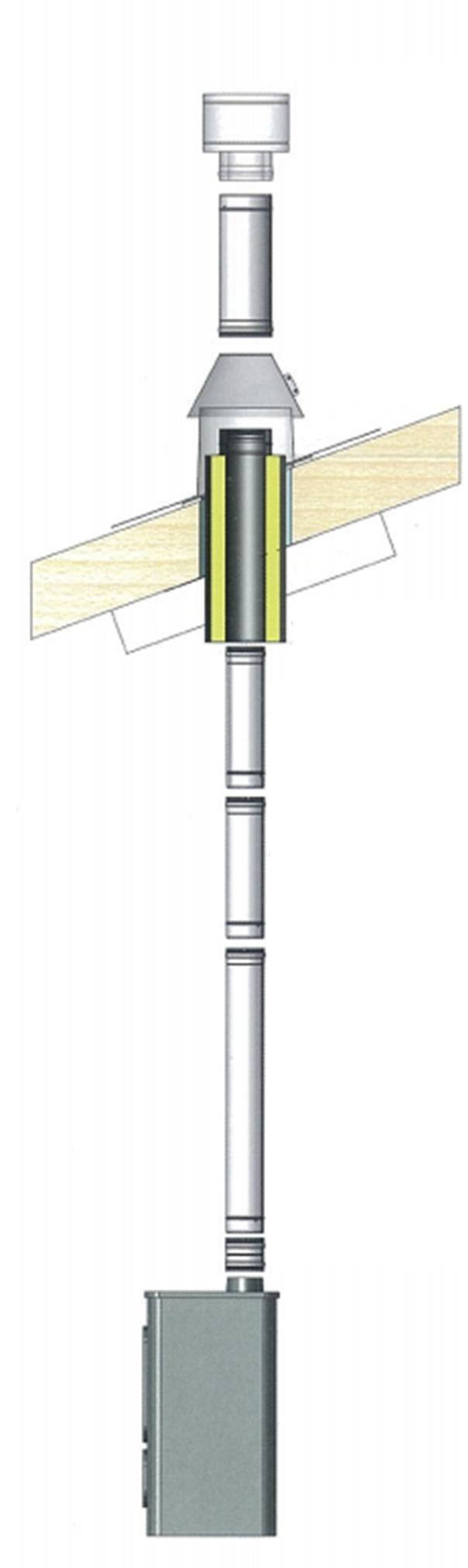 travers isol pour toiture en bois 150mm r f conduits de fum e conduits de fum e. Black Bedroom Furniture Sets. Home Design Ideas
