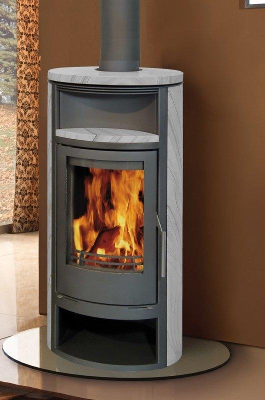 nf20 ollaire r f chauffage po les bois contemporain espace po le scandinave. Black Bedroom Furniture Sets. Home Design Ideas