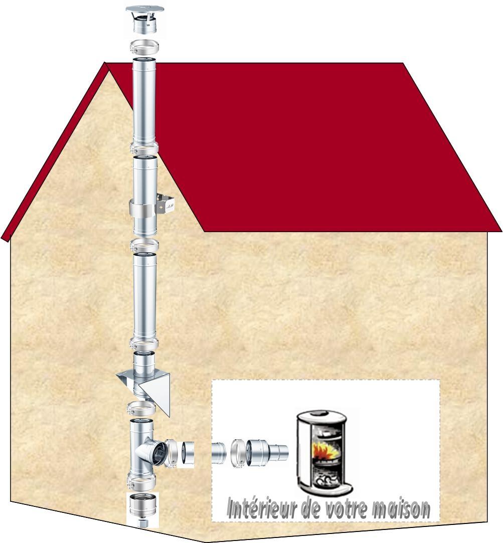sch ma de montage d 39 un conduit de fum e ext rieur et descriptif de nos conduits r f. Black Bedroom Furniture Sets. Home Design Ideas